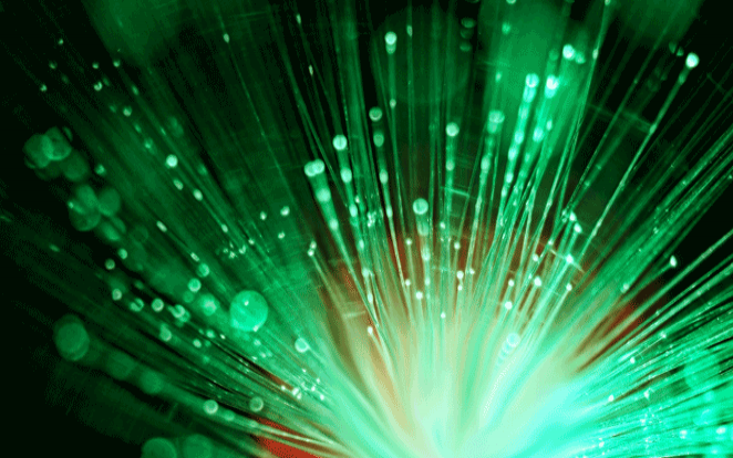 photo d'étincelles de fibre optique